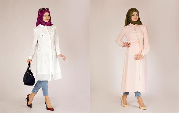 2016 Tesettür Tunik Modelleri