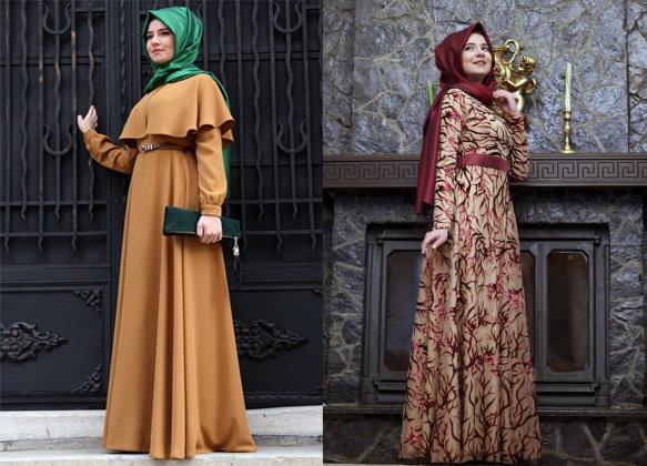Tesettür Elbiselerde Sonbahar Kış Modası