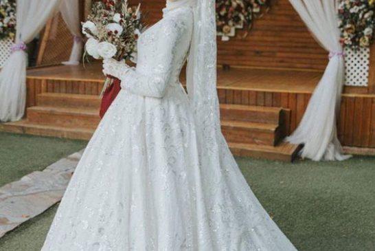 Tesettürlü Prenses Gelinlik Modeli